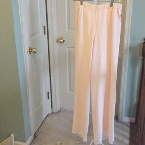 St. John wide leg pants Size S with silk lining